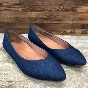 Vionic Gem Caballo Denim Slip-On Ballet Flats 8